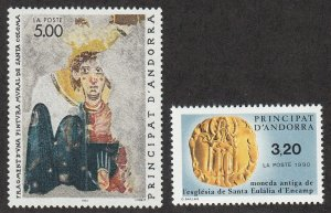 Andorra-French - 1990 - SC 397-98 - LH