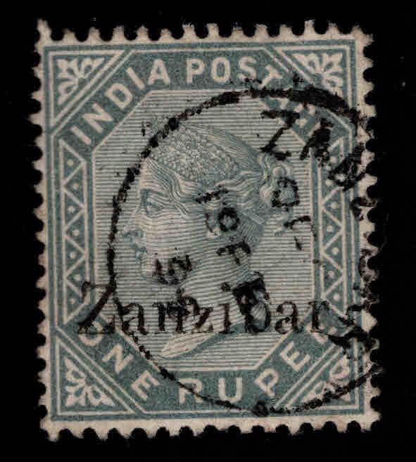 Zanzibar Scott 12 Used  1895 Queen Victoria great cx. collectors mark
