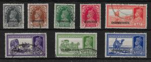 INDIA-CHAMBA SG82/9 1938 OVERPRINT SET TO 3a6p USED