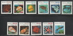 Palau #9-19 MNH Short Set of 11 cv $5.50