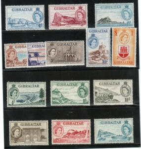Gibraltar #132 - #145 Very Fine Never Hinged Set