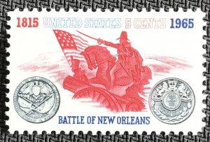 US #1261 MNH Single Battle of New Orleans SCV $.25 L23