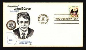 Carter 1977 Inauguration Cover / CC Cachet - Z21309