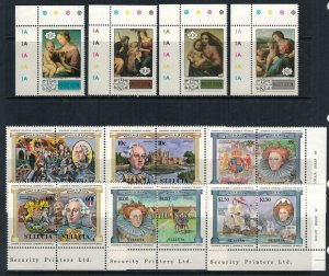 St. Lucia #629-38*  CV $5.85