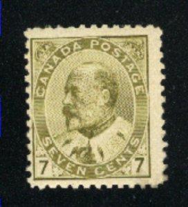 Canada #92   -1   Mint NH  PD