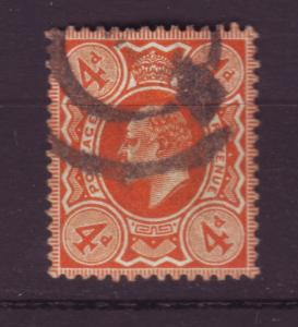 J19704 Jlstamps 1909-10 great britain used #144 king