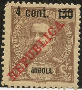 Angola, Scott #224, Unused, Hinged
