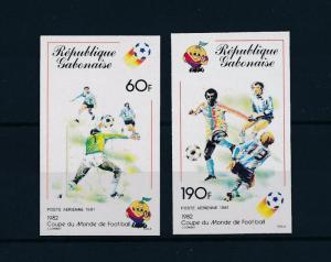[60554] Gabon 1981 World Cup Soccer Football Spain Imperforated MNH
