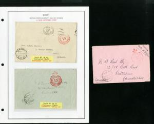 British Forces in Egypt Covers 5x Pristine all edited Never Seen