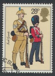 Great Britain  SG 1221 SC# 1025 Used / FU with First Day Cancel - Army Uniforms