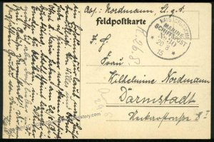 German WWI Navy SMS Rheinland MSP30 Feldpost 38366