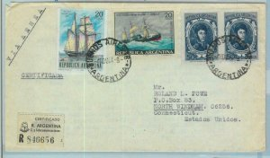96870 - ARGENTINA - POSTAL HISTORY - Registered  COVER to the USA  - 1967 140$
