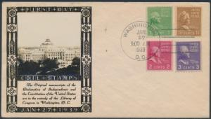#848-851 COIL STAMPS ON LOUIS WEIGAND PHOTO CACHET FDC BS2063