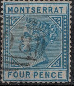 Montserrat 1884 SC 9 USED SCV $300.00