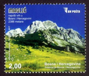 BOSNIA & HERZEGOVINA / 2017, Maglic, The Highest Peak In B&H, MNH