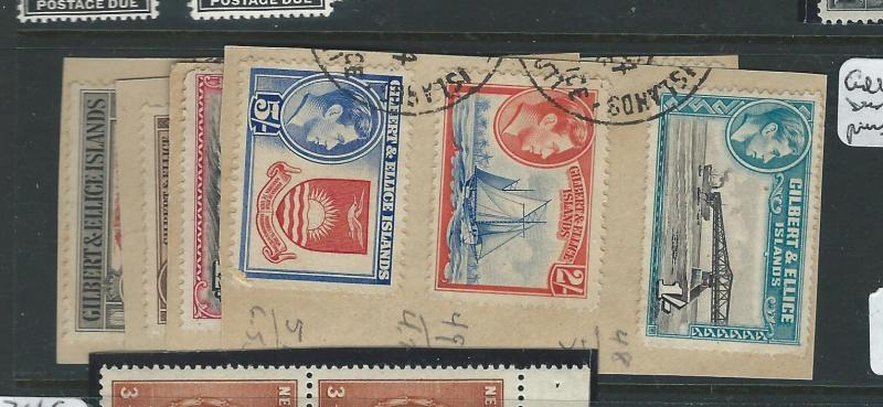 GILBERT AND ELLICE ISLANDS (PP3012B) KGVI SET SG 43-53 VFU ON PIECE
