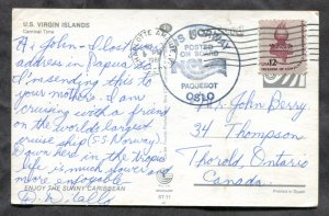 d175 - US VIRGIN ISLANDS 1984 PAQUEBOT Mail. Ship S/S Norway. Posted to Canada
