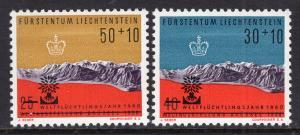 Liechtenstein B22-B23 MNH VF