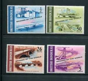 British Honduras #287-90 Mint