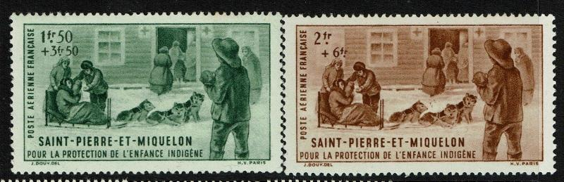 St. Pierre De Miquelon SC# CB1 & CB2 - Mint Hinged (Sm Hinge Rem) - Lot 061817
