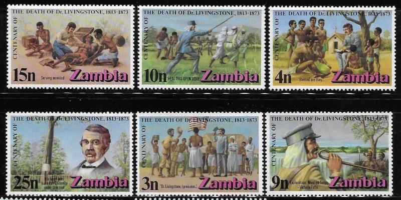 Zambia 1973 Dr David Livingstone medical explorer and missionary Flag MNH A711