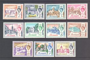 Bermuda Scott 175/184 - SG163/172, 1962 Elizabeth II Set to 1/3d MH*