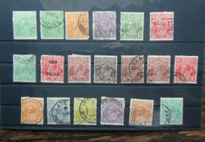 Australia King George V Heads values to 1/4 Poor to Fine Used