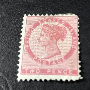 PRINCE EDWARD ISLAND # 5-MINT/HINGED------ROSE------1862-65(LOTB)
