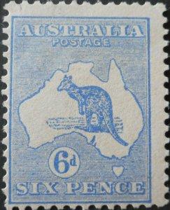 Australia 1913 Six Pence Kangaroo SG 9 mint