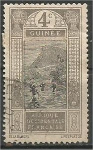 FRENCH GUINEA, 1913, used 4c Ford at Kitim Scott 65