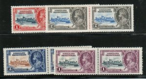 Somaliland Protectorate #77 - #80 Very Fine Never Hinged Set In Pairs