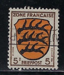 Germany - under French occupation - Scott # 4N3, used