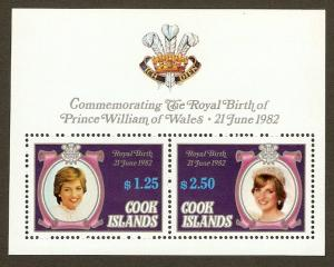 Cook Islands #682c NH Royal Birth of Prince William SS