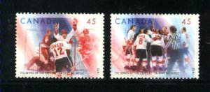 Canada #1659 -60   -2  used VF 1997  PD