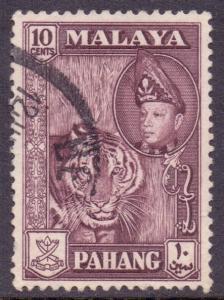 Malaya Pahang Scott 77 - SG81, 1957 Tiger 10c Maroon used
