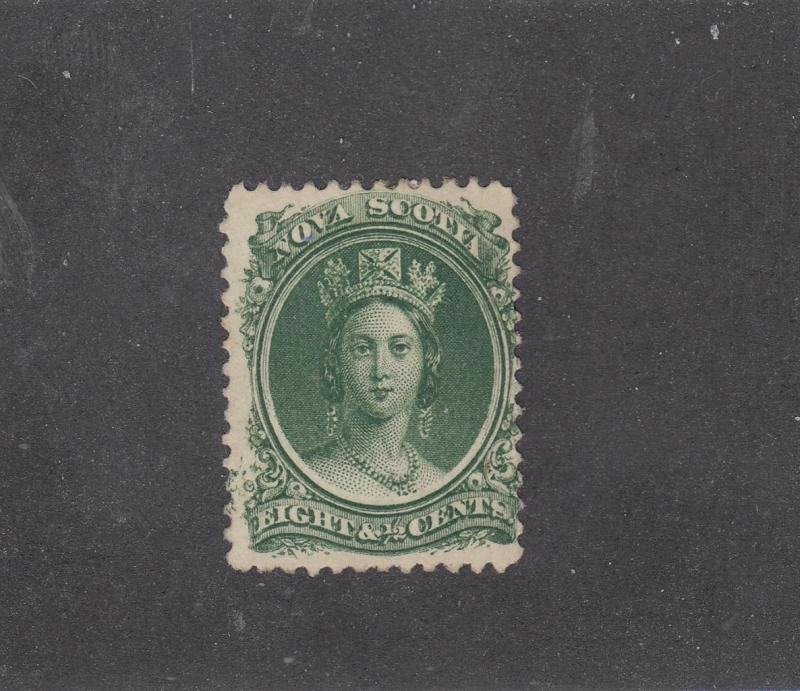 NOVA SCOTIA REF# KM6 # 11 FVF-MNGH 81/2cts  Q/VICTORIA GRN CAT VALUE $15