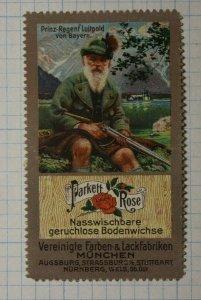 Parkett Rose Wet Wipe Odorless Floor Wax Rifle German Poster Stamp Ads