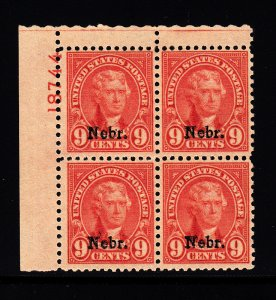#678 Plate block  VF NH! P.O. Fresh, Free certified shipping.
