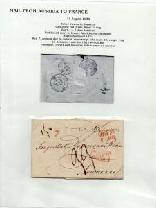 FRANCE Early Incoming LETTER/COVER 1838 fine used item Vienna - Tonnerre