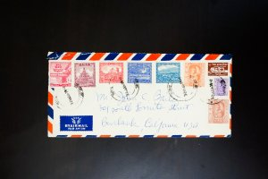 Nepal Stamps # 51-9 Affixed to Air Mail Cover Rare