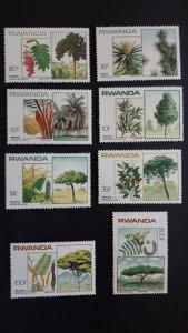 Flora - trees - Rwanda 1984. - Complete set ** MNH
