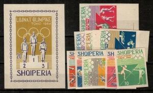 Albania Scott 754-64 Mint NH imperf (Catalog Value $45.00)