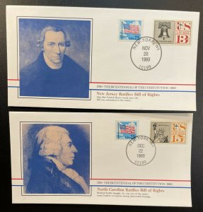 US #2278,C62,C63 On Covers - Bicentennial of Constitution 1787-1987 [BIC77-78]