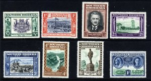 SOUTHERN RHODESIA KG VI 1940 Golden Jubilee of BSA Co. Set SG 53 to SG 60 MINT