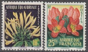 French Equatorial Africa #200-01   MNH F-VF CV $3.60  (S149)