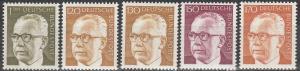 Germany #1038,1039-40,1041,1042A  MNH F-VF CV $8.70 (C7863)
