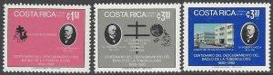 Costa Rica C893-5  MNH  Dr. Robert Koch, Health Tuberculosis1982