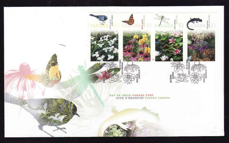 Canada-Sc#2145-stamps on FDC-Gardens-2006