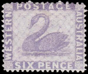 Western Australia Scott 52a, Perf. 14 (1882) Mint H F, CV $140.00 M