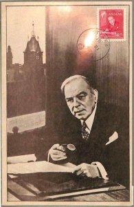 90128 - CANADA - Postal History - MAXIMUM CARD - MACKENZIE KING 1952 Politics